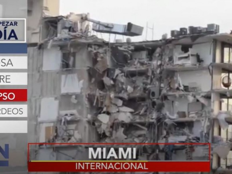 9 muertos por derrumbe en Miami, sigue la búsqueda