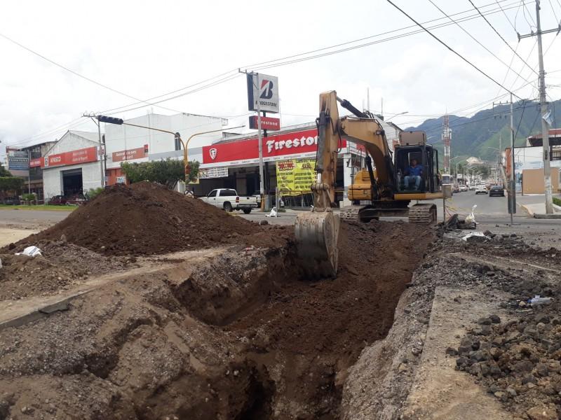90% de avance en obras boulevard Tepic-Xalisco