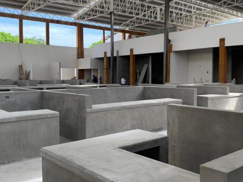 93% de avance del mercado de Ciudad Ixtepec