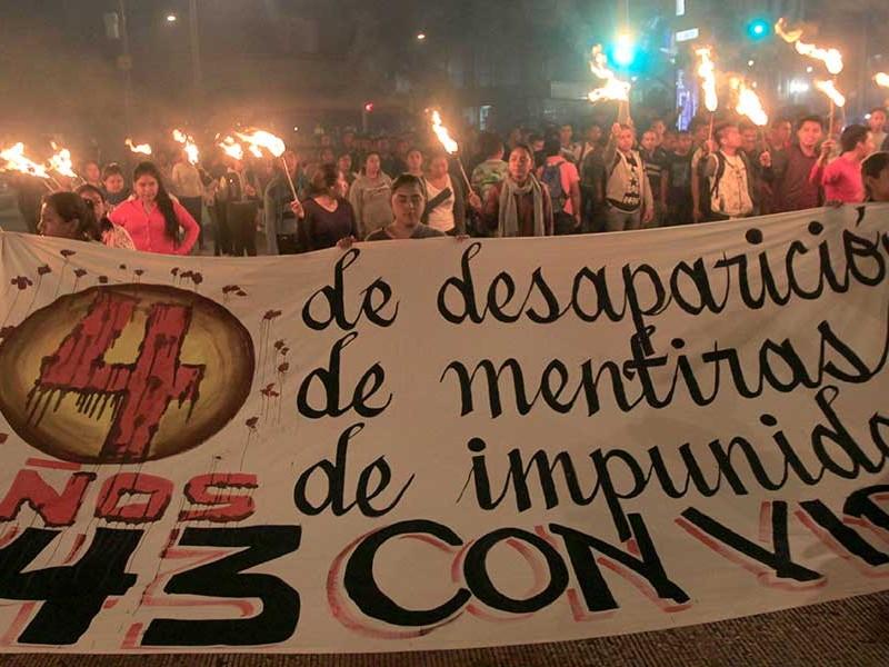 📹A 4 años de Ayotzinapa, padres claman justicia
