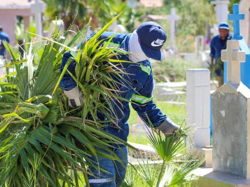 A buen ritmo avanzan trabajos de limpieza en panteones municipales