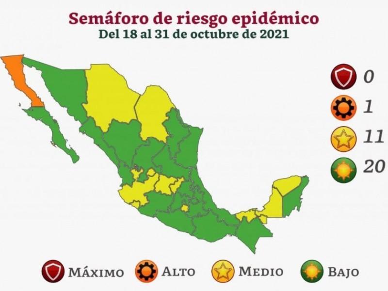A partir del lunes Michoacán pasa a Semáforo Verde epidemiológico