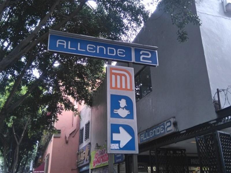 A partir del martes cierran Metro Allende