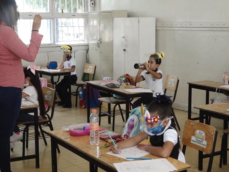A pesar del miedo, los niños no faltaron a clases