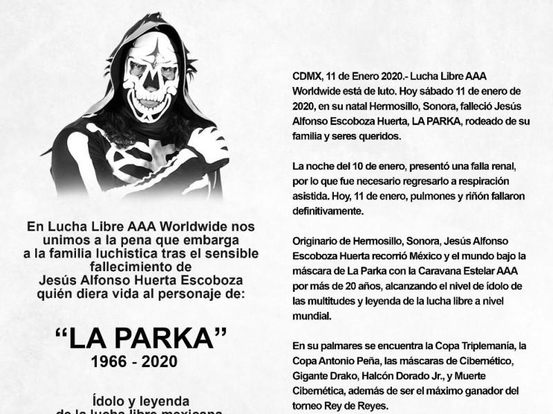 AAA confirma el fallecimiento de La Parka