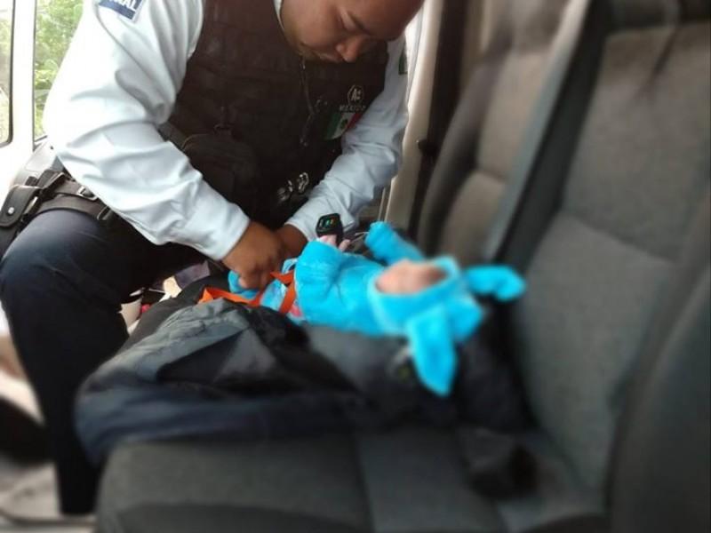 Abandonan a bebé en colonia San Isidro Itzicuaro