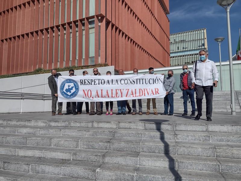 Abogados en manifiestan contra Ley Zaldívar en Ciudad Judicial