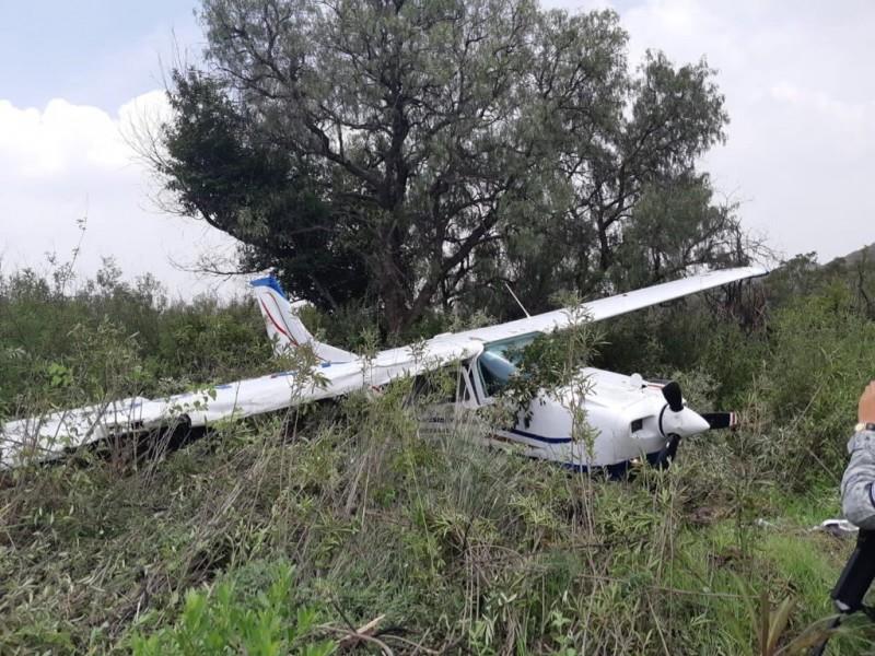 Accidente aéreo en Atizapán de Zaragoza no deja heridos