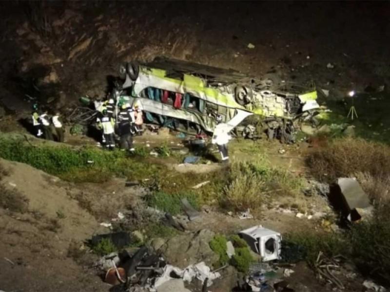 Accidente de autobús en Chile deja 20 muertos