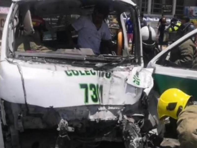 Accidente de transporte deja 6 lesionados, uno de gravedad