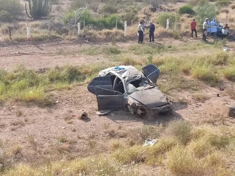 Accidente deja a tres muertos en carretera Gym-Hmo