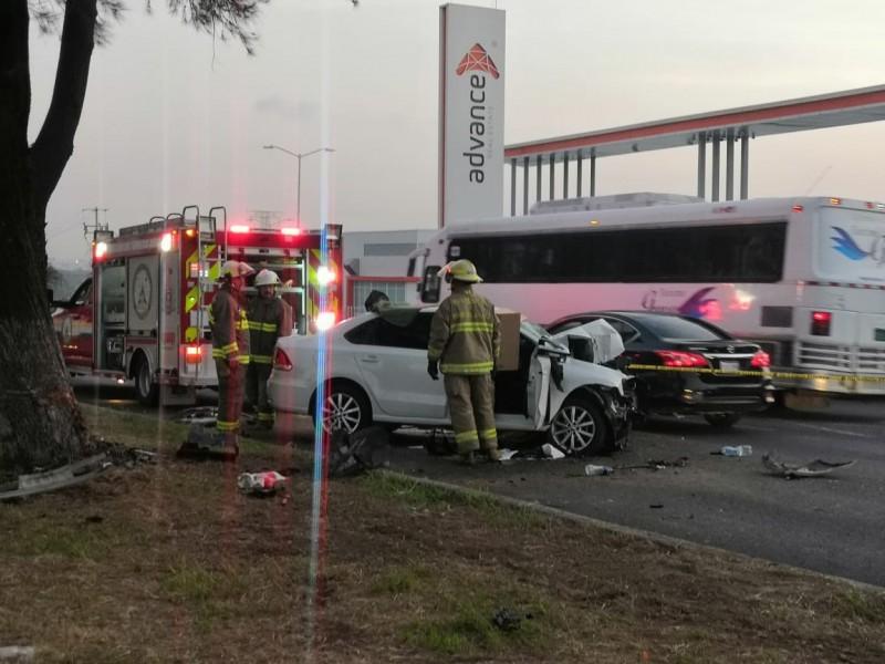 Accidente deja dos muertos en Carretera Chapala