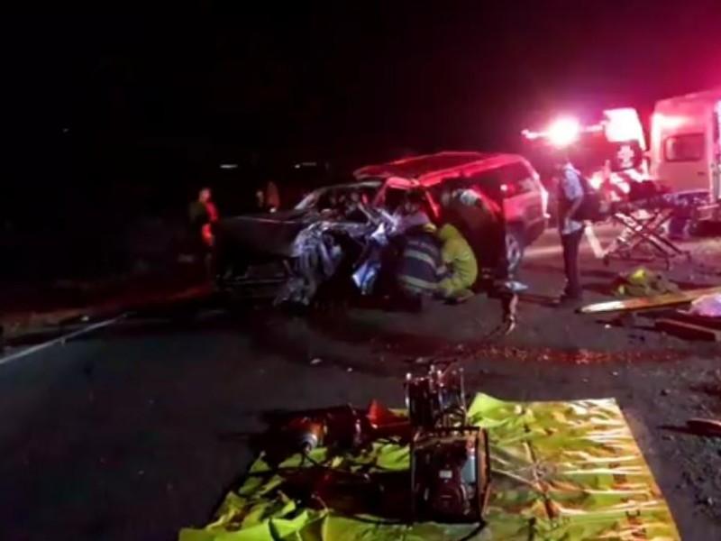 Accidente deja siete lesionado en carretera Guaymas-Hermosillo