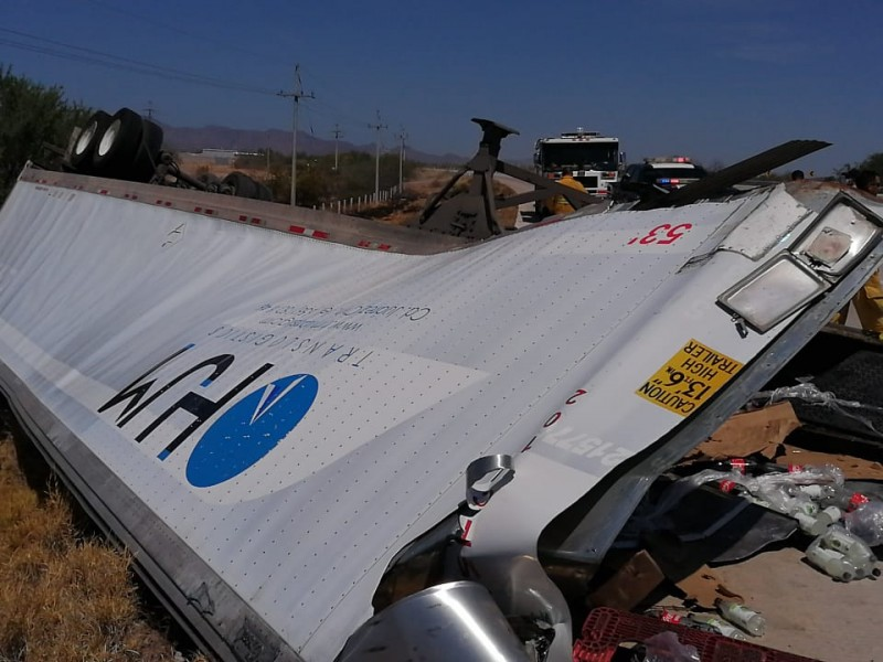 Accidente en carretera Guaymas-Hermosillo