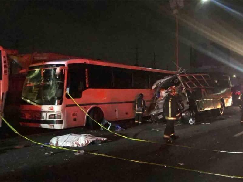 Accidente en la México-Pachuca deja 9 muertos