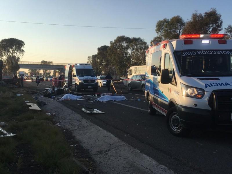 Accidente mortal en la carretera a CDMX