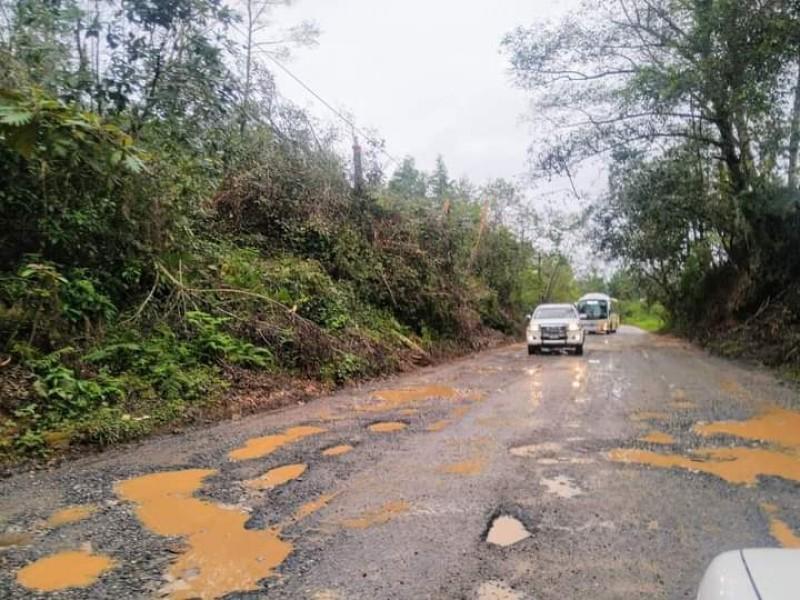 Accidentes por falta de mantenimiento en carretera Zacapoaxtla-Equimita