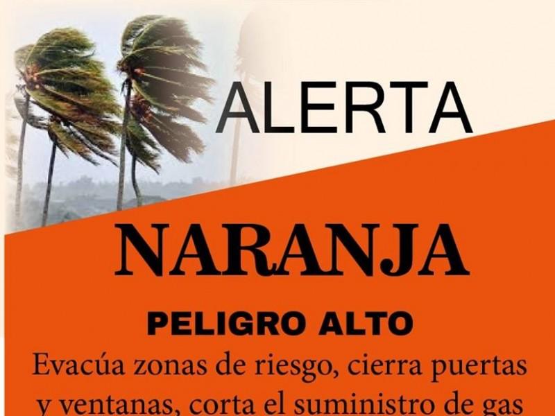 Activan alerta naranja en el mayo por