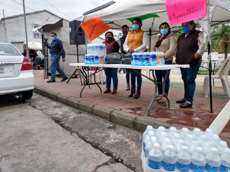 Activan Centro de Acopio para apoyar a Damnificados de Tabasco