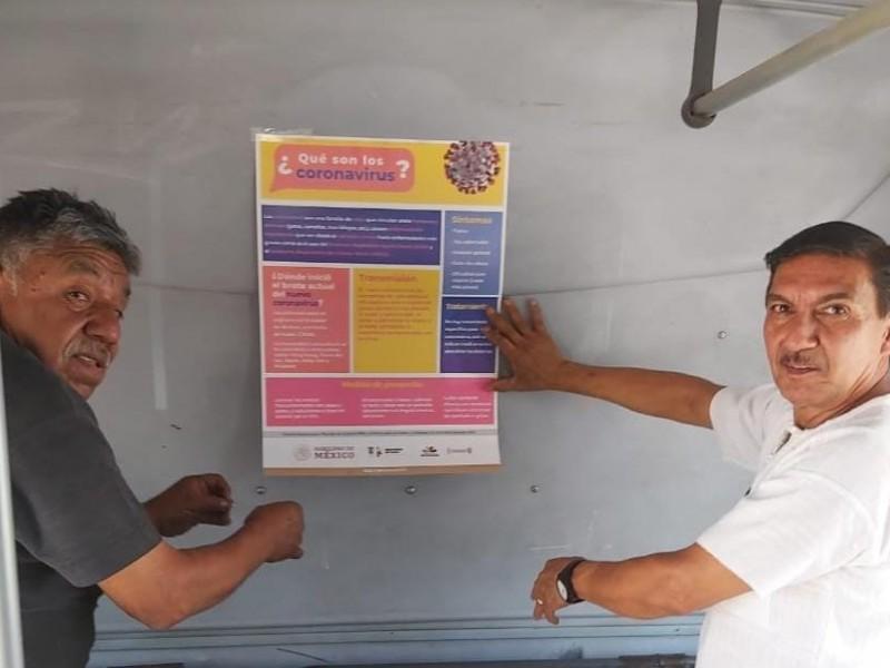 Activan labores de sanidad choferes de transporte público