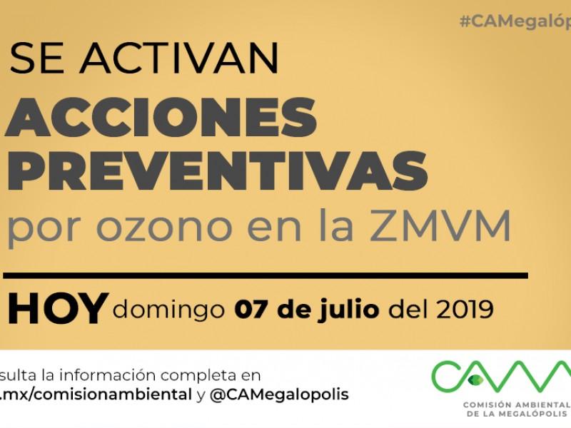 Activan medidas preventivas en CDMX por ozono