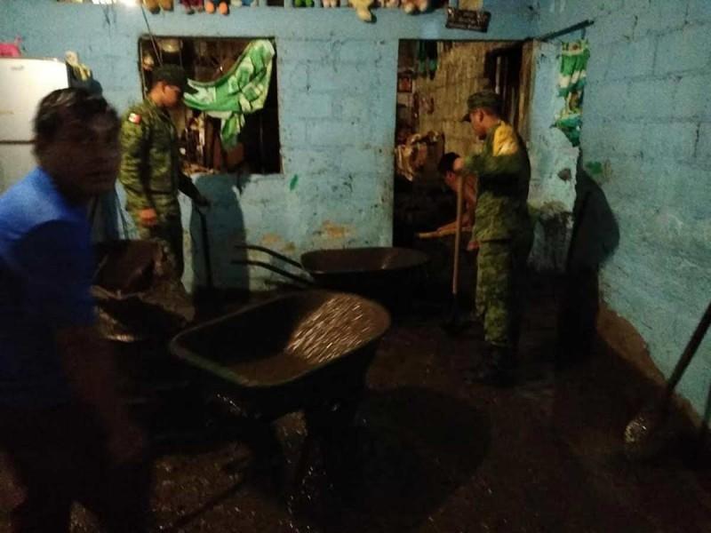 Activan Plan DN-III-E por lluvias en Chiapas