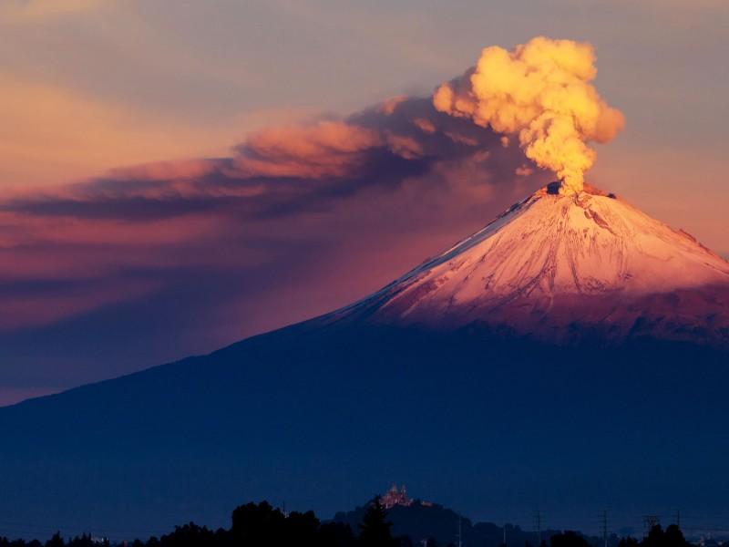 Actividad en el Popocatépetl