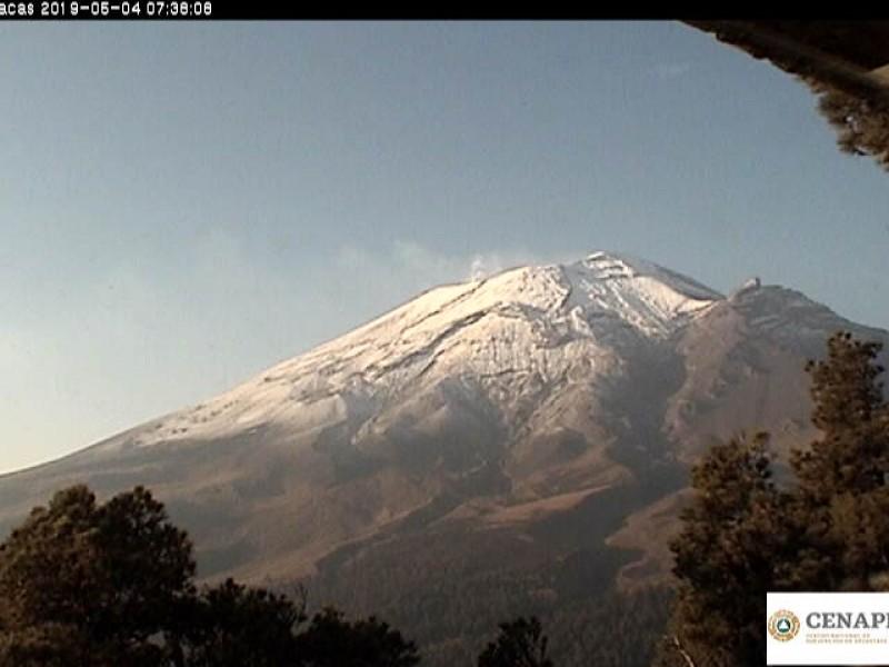 Actividad volcánica se mantiene estable