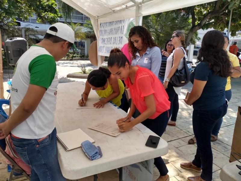 Activistas recaban firmas