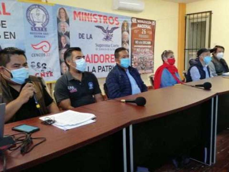 Acude S-22 a movilización nacional representativa: Pide mesa con AMLO