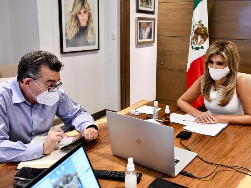 Acuerda gobernadora con canciller cierre de frontera con Arizona