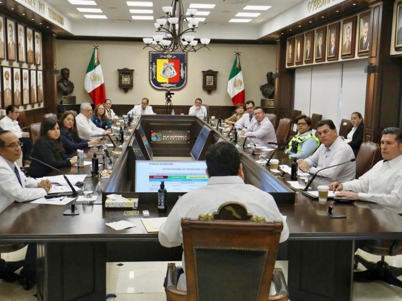 Acuerdan alcaldes y gobernador acciones para hacer frente al Covid-19
