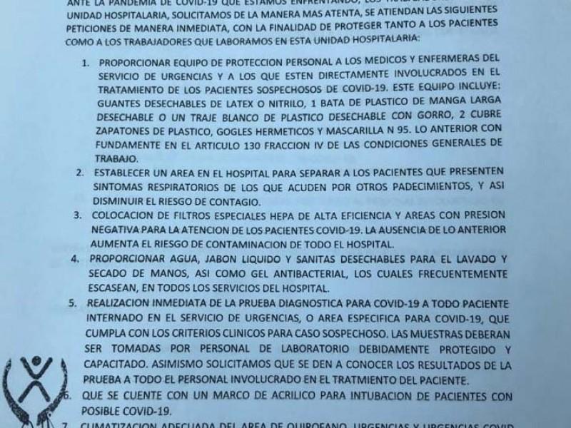Acusa personal médico trabajar sin protección: CEDH Tuxpan