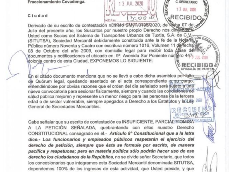 Adeudan más de 21MDP a socios de Conejobus