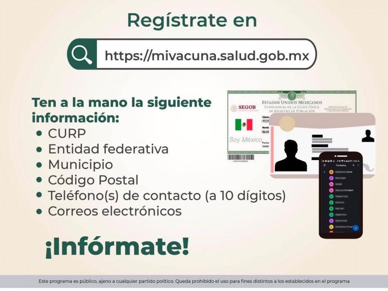 Adultos entre 50-59 años serán vacunados el 11 en Xalapa