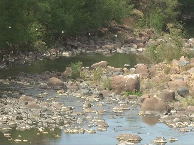 Advierten bajo cauce y contaminación en el río Verde