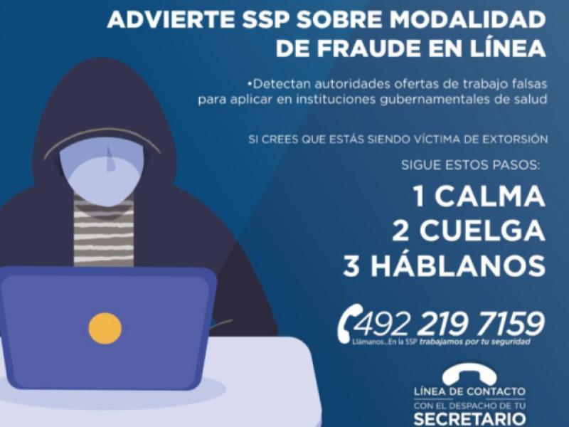 Advierten fraudes en línea de ofertas laborales falsas en Zacatecas