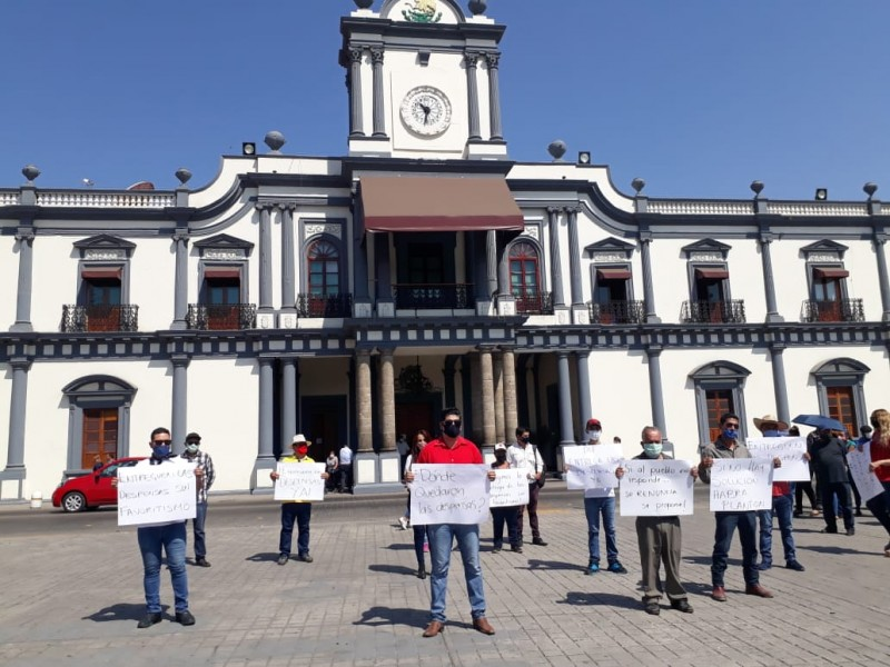 Advierten plantón frente a Palacio por falta de apoyos alimentarios