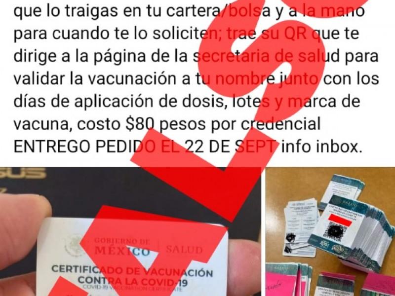 Advierten sobre falsos certificados de vacunación anticovid