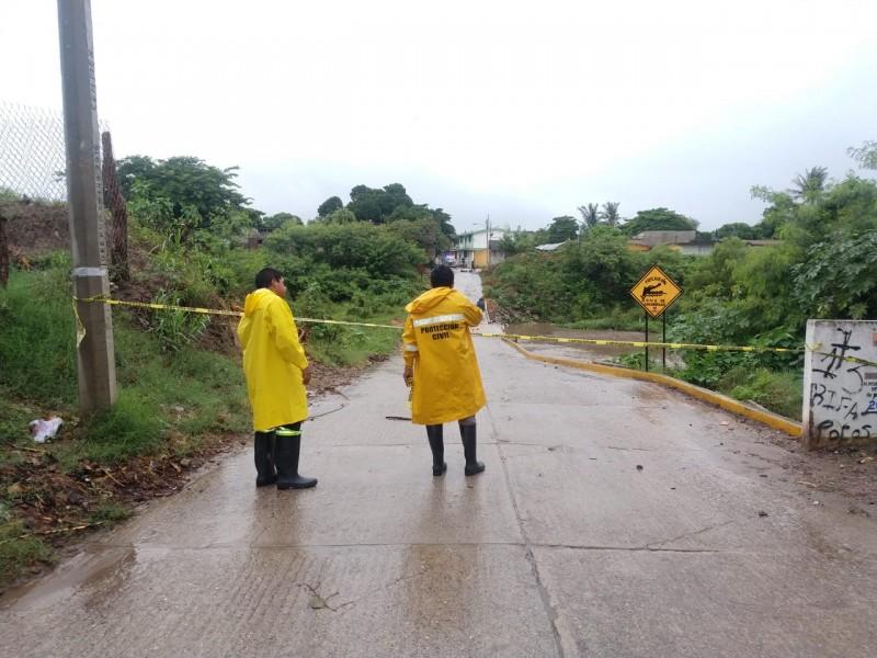 Afectaciones mínimas por lluvias en Juchitán