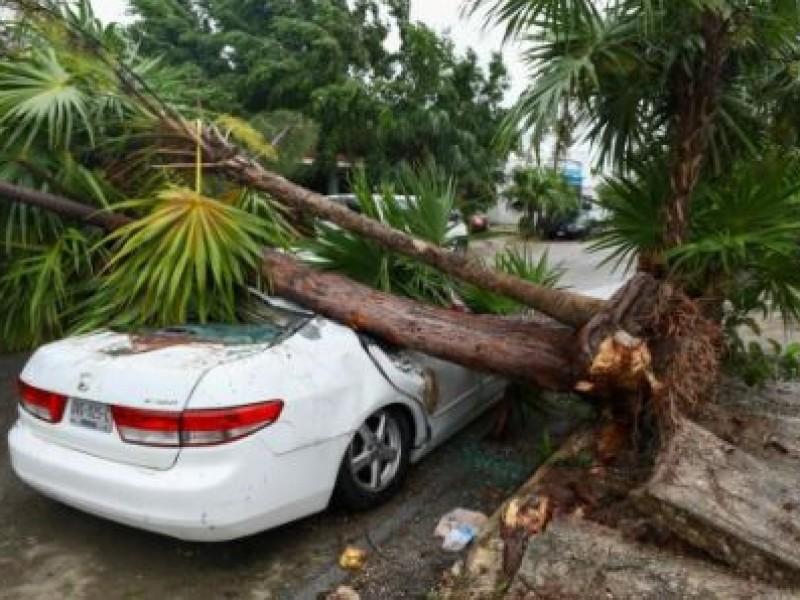 Afectaciones por el paso del huracán