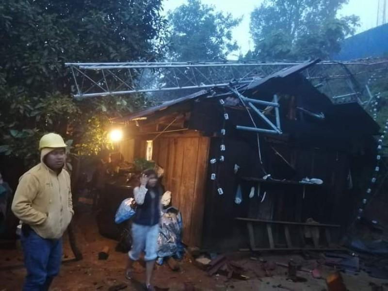 Afectaciones por Grace en Zacatlán con saldo blanco