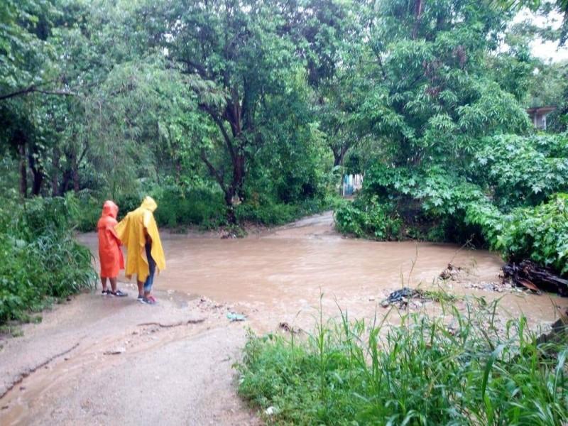 Afectaciones por lluvias en Pochutla