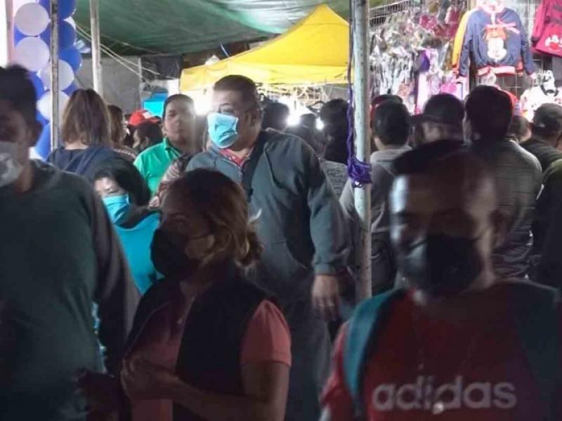 Aglomeraciones en mercado de Oaxaca por Reyes Magos