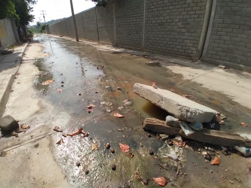 Aguas negras afectan la salud de vecinos en barrio Lieza