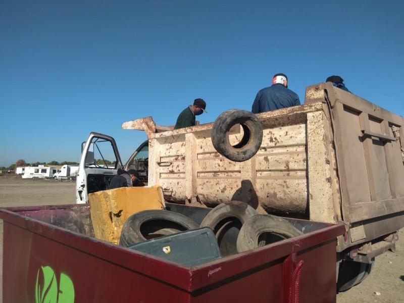 Ahome recolecta más de mil toneladas de cacharro al año