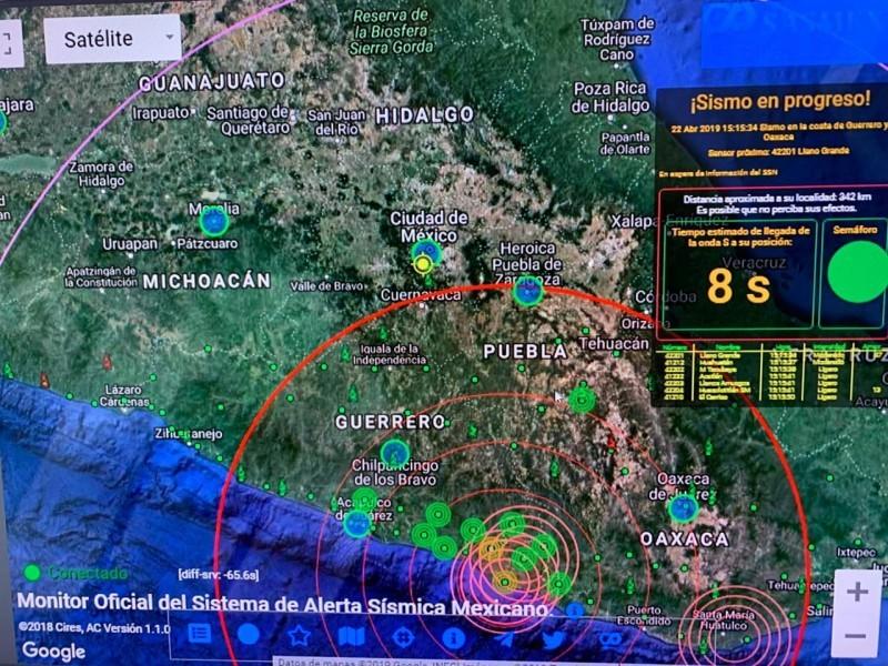 Ajustan magnitud y epicentro de sismo