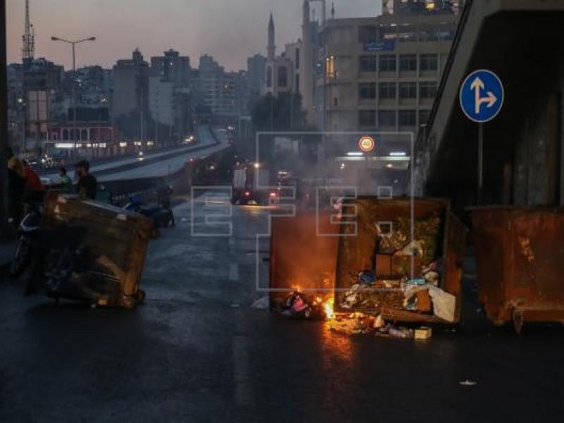 Al menos 18 heridos en protestas en el Líbano