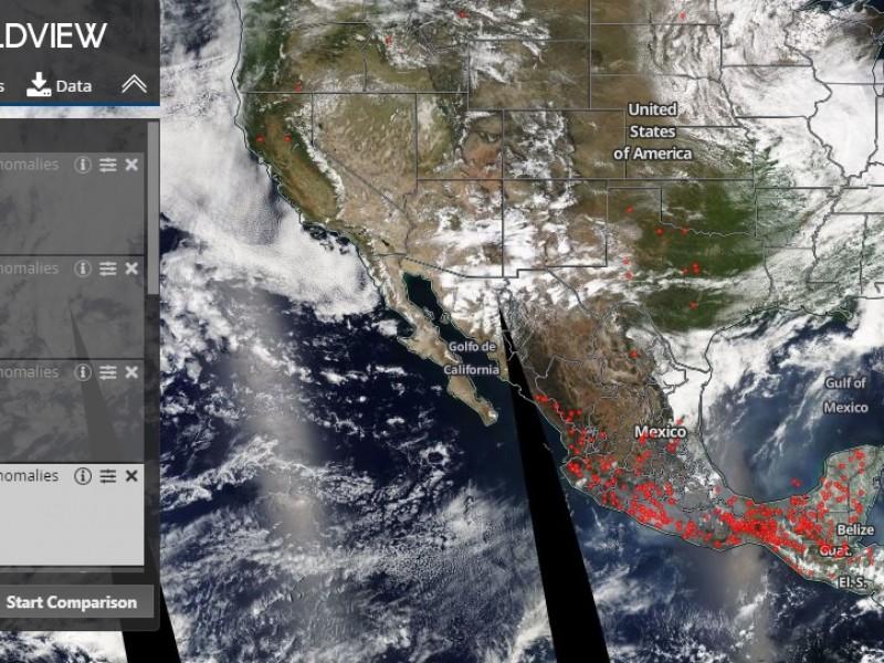 Alarma a México el mapa de incendios