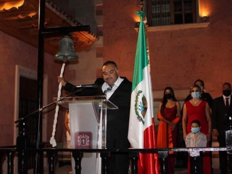 Alcalde de Jacona da su primer Grito de Independencia